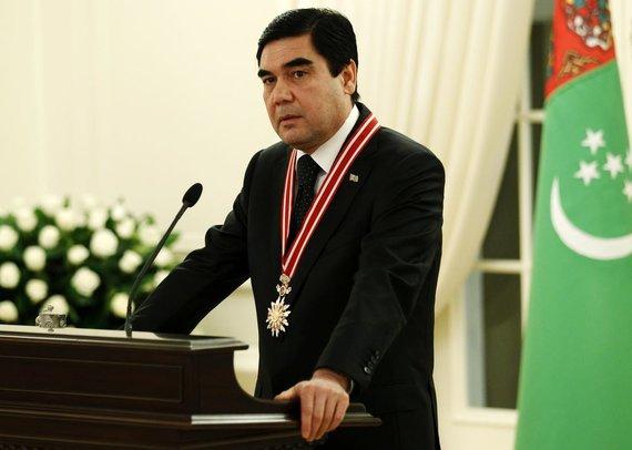 """Reuters""/""Scanpix"" nuotr./Turkmėnistano prezidentas Gurbangulis Berdimuchamedovas"