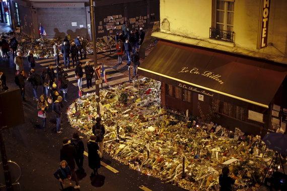 """""""Reuters""""/""""Scanpix"""" nuotr./Paryžius praėjus savaitei po išpuolių"""