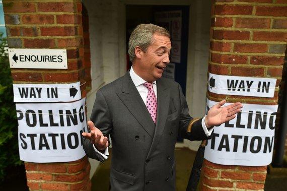 "AFP/""Scanpix"" nuotr./Nigelas Farage'as"