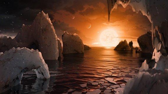 NASA iliustr./TRAPPIST-1 žvaigždės sistema