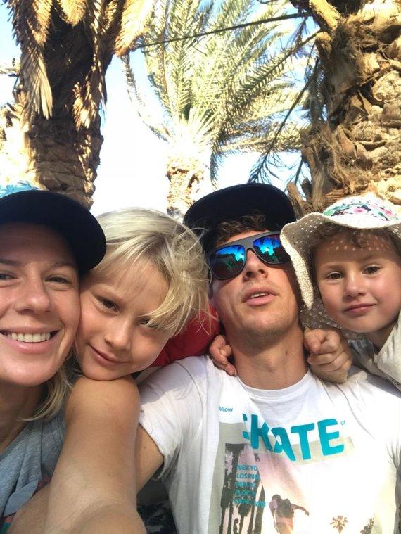 Asm.archyvo nuotr./Nerijaus ir Kristinos šeima