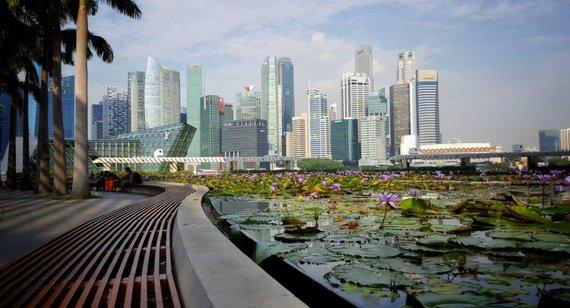 Asm.archyvo nuotr./Singapūro dangoraižiai