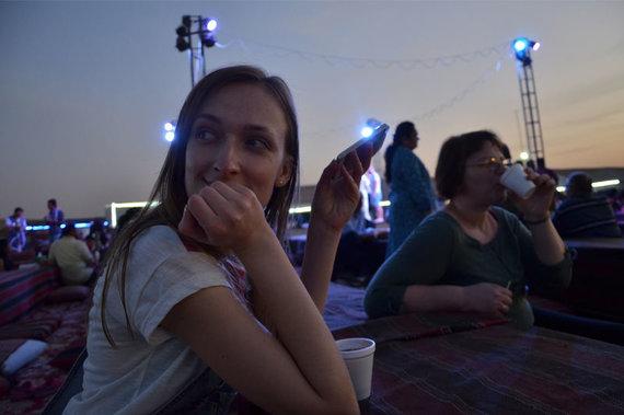 Skrendu.lt nuotr./S.Valiaugaitė dykumos stovykloje