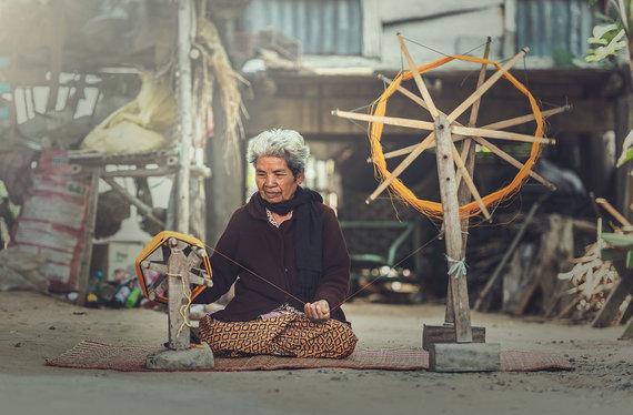 Shutterstock.com nuotr./Tailandietiškas šilkas