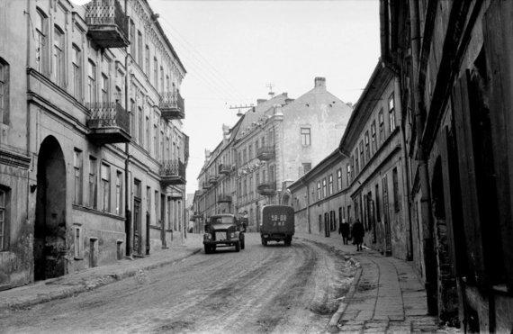 Centrinio valstybės arch. nuotr./Užupio gatvė 1969 m.