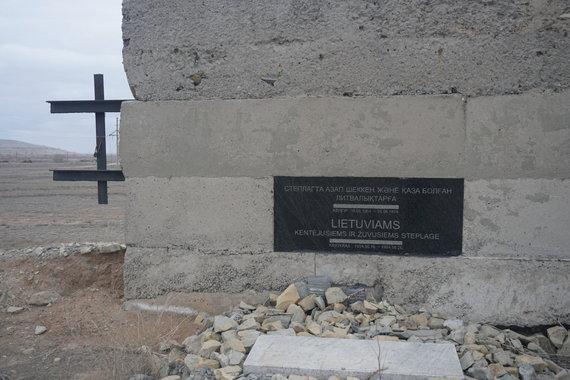 """""""Gabalėliai Lietuvos"""" nuotr./Memorialiai lietuviams, ištremtiems į Kazachstaną"""
