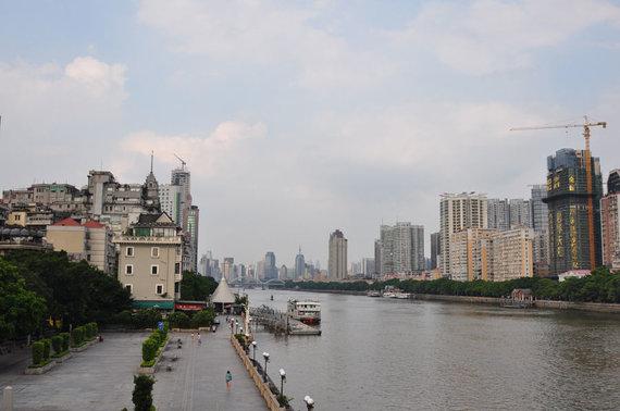 V.Mikaičio nuotr./Guangdžou vaizdas prie Perlo upės