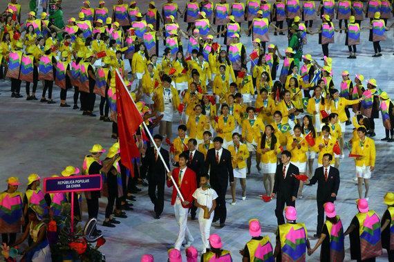 """AFP/""""Scanpix"""" nuotr./Kinijos delegacija"""
