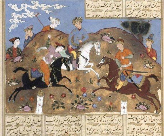 "Miniatiūra iš senovės iranėnų epo ""Šachnamė"", XI a."