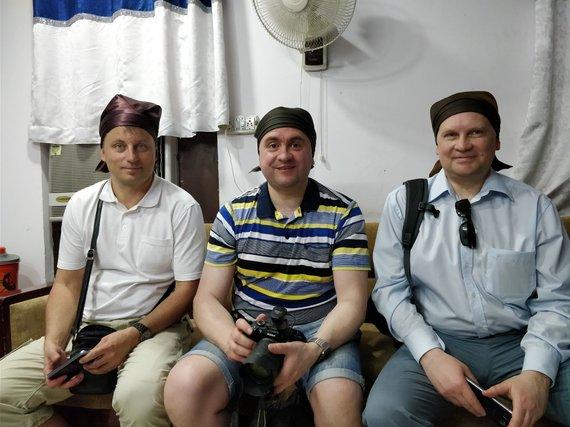 L.Barilos asmeninio archyvo nuotr. / G.Kazakevičius (dešinėje) per vizitą Indijoje