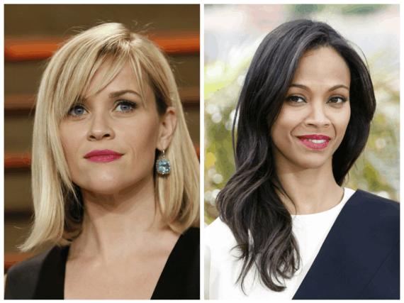 """Scanpix"" nuotr./Reese Witherspoon (kairėje) ir Zoe Saldana"
