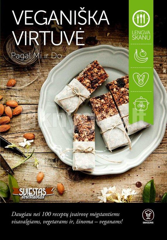 """Knygos """"Veganiška virtuvė"""" viršelis"""