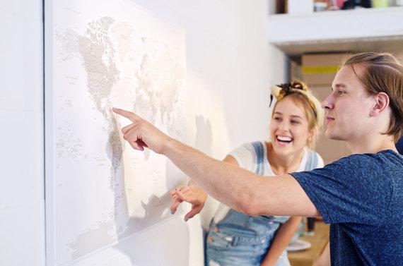 """Partnerio nuotr./""""Trip Map"""" žemėlapis"""