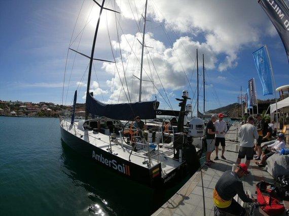 """Ambersail 2"" įgulos nuotr,/""Ambersail 2"" jachta ""Les Voiles de Saint Barth"" regatoje"