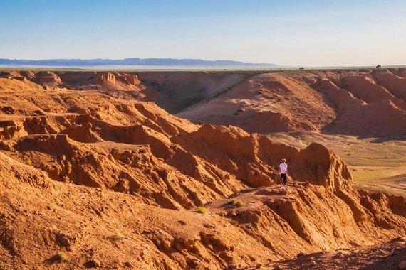 """Kelionių organizatoriaus """"GRŪDA"""" nuotr./Bajanzagas, Gobio dykuma, Mongolija"""