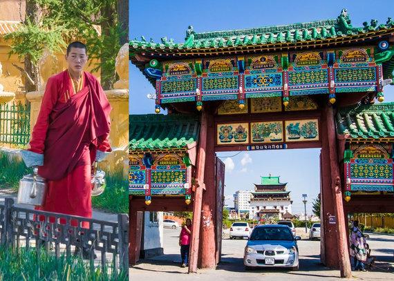 """Kelionių organizatoriaus """"GRŪDA"""" nuotr./Gandano vienuolynas, Ulan Batoras, Mongolija"""