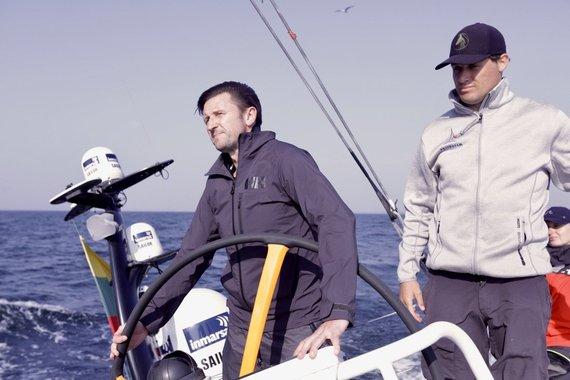 """Monikos Svėrytės nuotr./""""Ambersail 2"""" įgulos treniruotė Baltijos jūroje"""