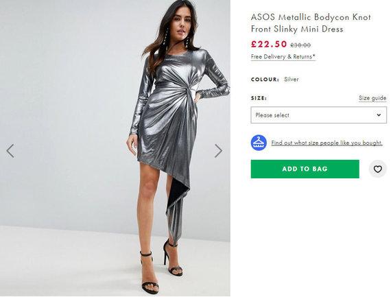 ASOS suknelė internete