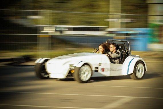 """""""Gedimino dienos 2014"""" Bazaras, pasivažinėjimas elektromobiliu, Ignoto Asadausko nuotr."""
