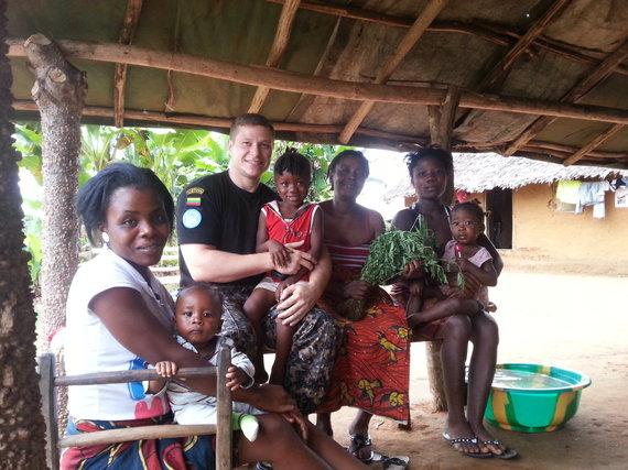 Asmeninė nuotrauka/M.Taraškevičius sako, kad situacija pilietinio karo nukamuotoje Liberijoje gerėja.