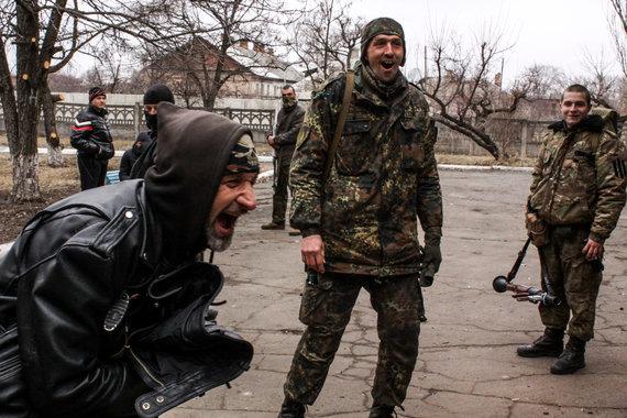 D.Pancerovo nuotr./Irakietis iš Ukrainos rėmėjų gavo naują baikerio kostiumą