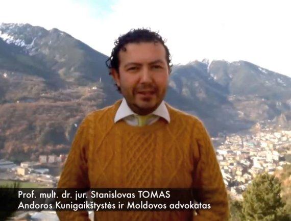 """""""YouTube"""" nuotr./Stanislovas Tomas reklamuoja savo advokato paslaugas"""