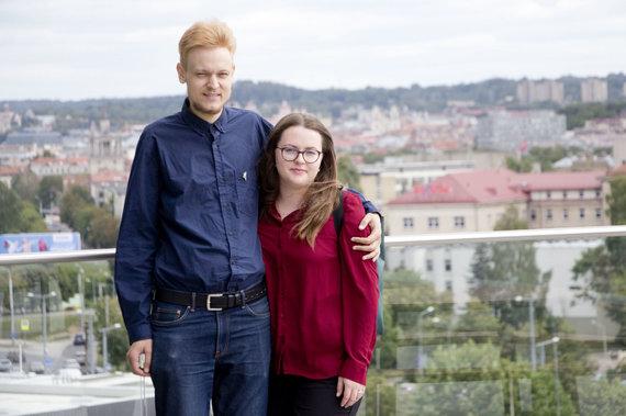 Valdo Kopūsto / 15min nuotr./Karolina Dačkutė ir Aistis Žekevičius