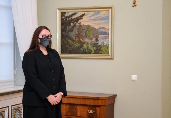 LR Prezidento kanceliarijos/R.Dačkaus nuotr./Prezidentas susitinka su kandidate į teisingumo ministres Evelina Dobrovolska