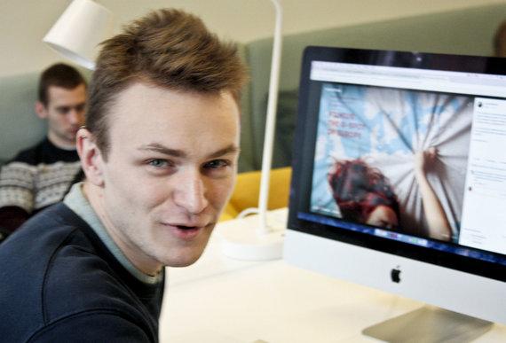 Valdo Kopūsto / 15min nuotr./Jurgis Ramanauskas, vienas iš reklamos kūrėjų