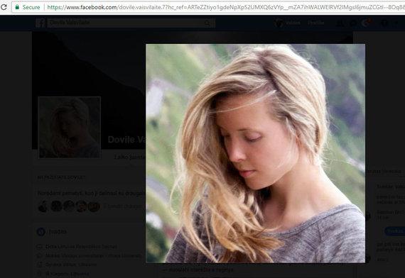 Facebook profilio vaizdas/Dovile Vaisvilaite