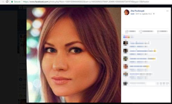 Facebook profilio vaizdas/Zita Povilonytė