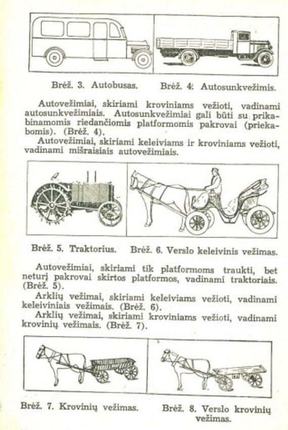 """Nuotr. iš knygelės """"Judėjimo tvarkos nuostatai""""/tr. priemonių aprašymai"""