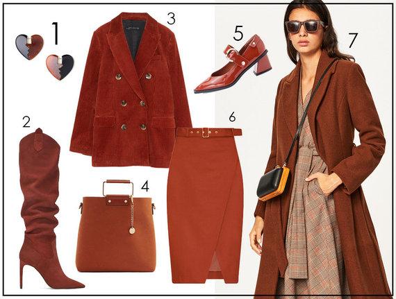 "1 ""H&M"", 2, 3 ""Zara"", 4 ""Aldo"", 5, 7 ""Reserved"", 6 ""Pietro Filipi"""