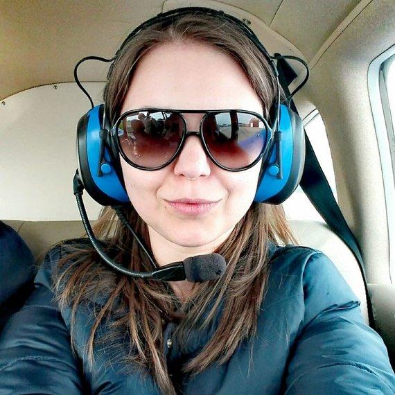Partnerio nuotr./Lėktuve