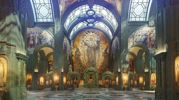 """Fondo """"Voskresenije"""" nuotr./Kristaus Prisikėlimo cerkvės pagrindinę ikoną finansuoti žada Vladimiras Putinas"""