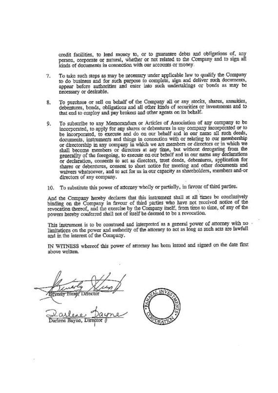 15min nuotr./Ofšorinės įmonės įgaliojimas Ivanui Paleičikui, 2 puslapis