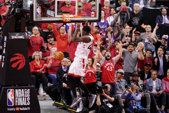 """Scanpix"" nuotr./NBA finalo antrosios rungtynės: ""Raptors"" – ""Warriors"""