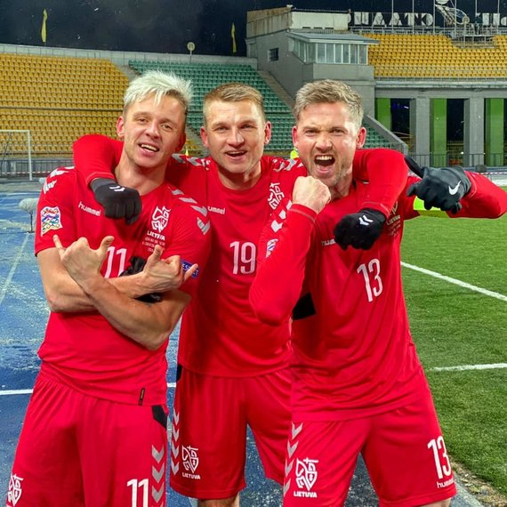 LFF nuotr./Lietuvos futbolininkų triumfas