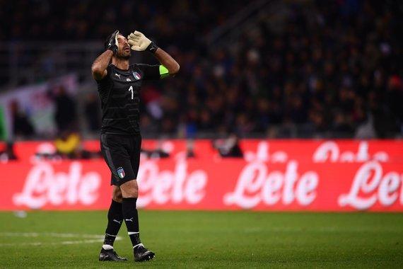 """""""Scanpix"""" nuotr./Gianluigi Buffono kartus atsisveikinimas su Italijos rinktine"""