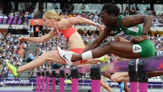 """AFP/""""Scanpix"""" nuotr./Seun Adigun Londono olimpinėse žaidynėse"""
