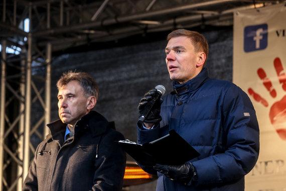 Vidmanto Balkūno / 15min nuotr./Mindaugas Puidokas (dešinėje).