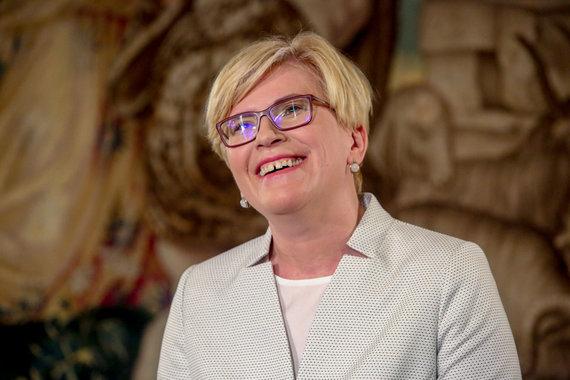 Vidmanto Balkūno / 15min nuotr./BNS spaudos konferencija su Ingrida Šimonyte