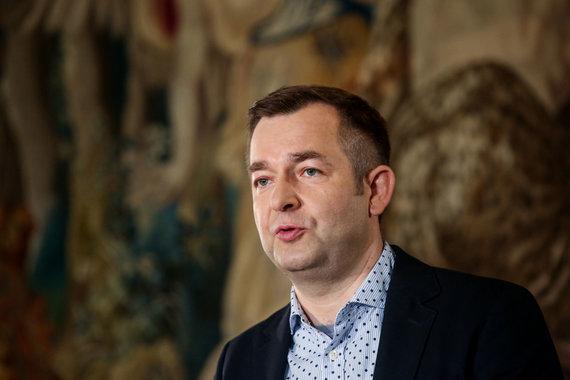 Vidmanto Balkūno / 15min nuotr./BNS spaudos konferencijoje kalba Ramūnas Vilpišauskas