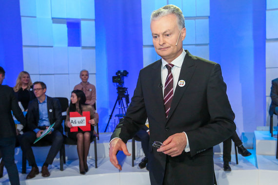 Vidmanto Balkūno / 15min nuotr./LRT debatai. Gitanas Nausėda