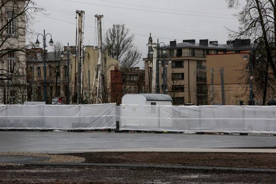 Vidmanto Balkūno / 15min nuotr./Atidaryta rekonstruota Lukiškių aikštė