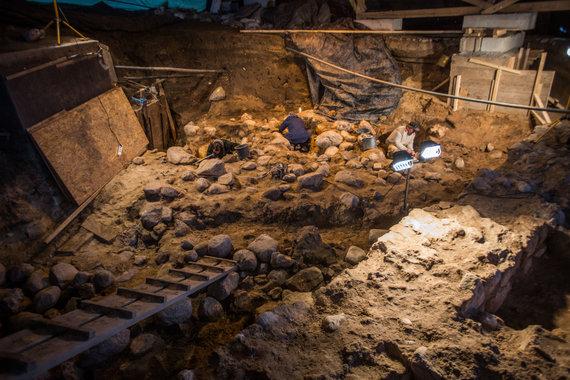 Vidmanto Balkūno / 15min nuotr./Archeologiniai kasinėjimai Gedimino kalno aikštelėje