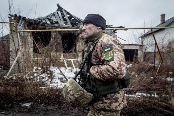 Vidmanto Balkūno / 15min nuotr./Ukrainos karių buitis priešakinėse pozicijose