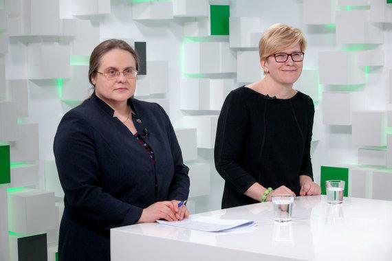 Vidmanto Balkūno / 15min nuotr./15min studijoje — Agnė Širinskienė ir Ingrida Šimonytė