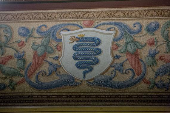 Vidmanto Balkūno / 15min nuotr./Valdovų rūmuose Bonos Sforcos herbas.