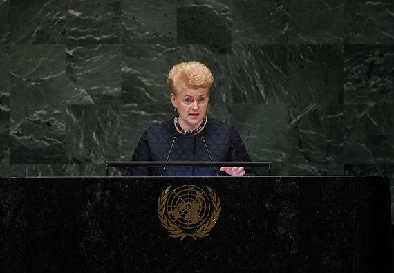 LR Prezidento kanceliarijos/R.Dačkaus nuotr./Prezidentė dalyvavo 73-uosiuose Jungtinių Tautų Generalinės Asamblėjos debatuose